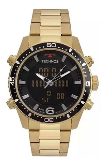 Relógio Technos Masculino Digital E Analógico Ts Digiana Dourado Ref - Bjk203aad/4p Super Promoção