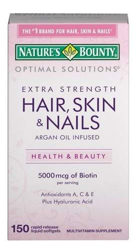 Vitaminas Hair Skin And Nails 5000mcg Cabello Piel Y Uñas