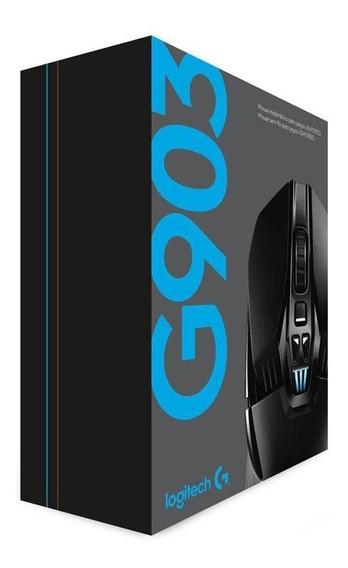 Logitech Mouse Sem Fio Gamer G903 Recarregável 12000 Dpi Rgb