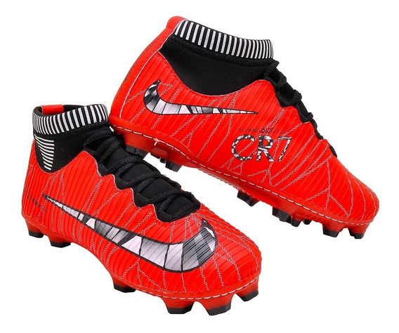 Chuteira Cr7 Mercurial Superfly Clube Campo Unissex Adulto