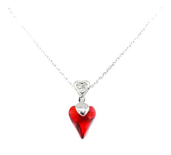 Red Magma 001 - Collar Con Crystals Swarovski En Baño De Oro