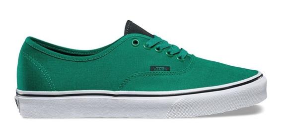 Tenis Vans Authentic Canvas Verde Hombre Nuevos Vn0a38emmm7