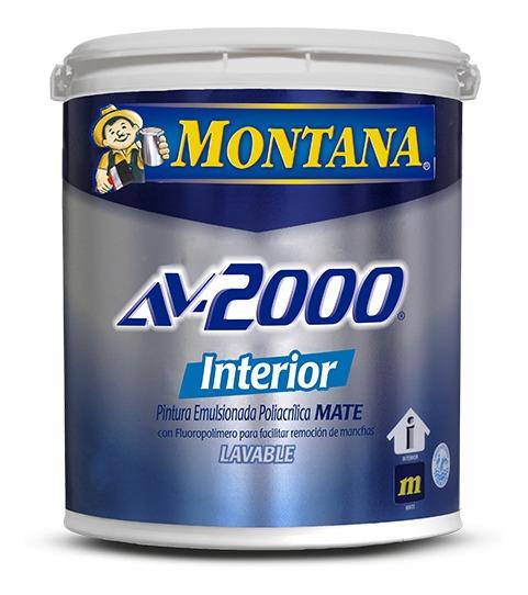 Pintura Caucho Mate Interior Blanco Durazno Av-2000 Montana