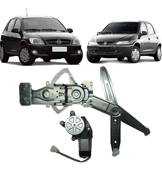 Máquina Vidro Elétrico Dianteira Celta/ Prisma 4p Com Motor