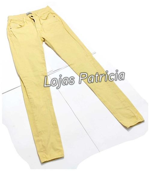 Calça Jeans Feminina Tamanho 38 Amarelo Claro Usada 1 Vez