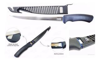 Cuchillo Para Filetear Pescados 6¨ Con Vaina Marine Sports