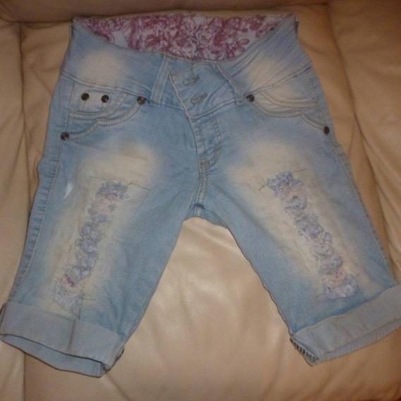 Pantalon Jean Tipo Pescador Dama