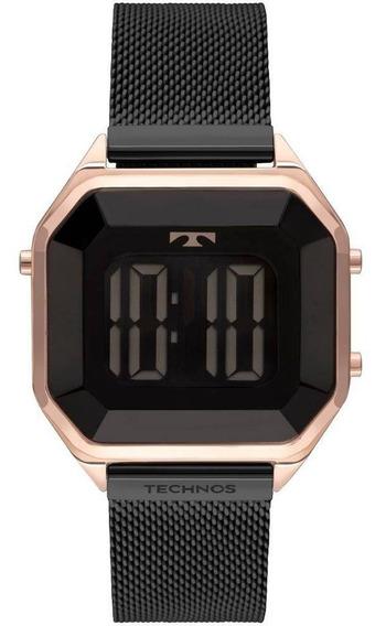Relógio Feminino Technos Crystal Digital Bj3851am/4p
