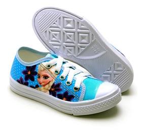 Tênis Infantil Femino Estilo Star Frozen Princesa Kids