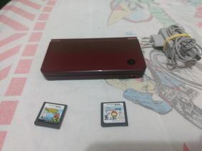 Nintendo Dsixl Vermelho Completo Com Jogos Caneta E Etc...