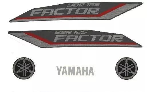 Jogo Adesivos Ybr 125 Factor 2012 Vermelha - Lb10444