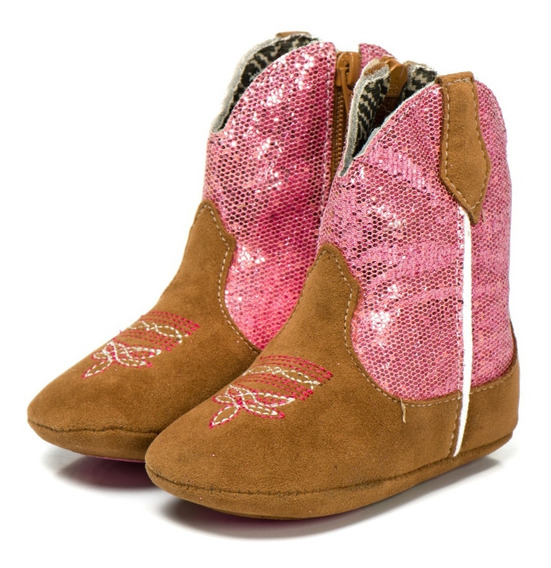 Bota Texana Bebe Country Feminina 100% Couro Eco Pink