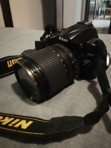 Nikon D5000 + Lente 18 105mm Com 2 Baterias