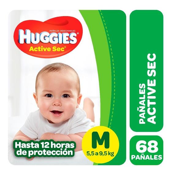 Pañales Huggies Active Sec Promopack M G Xg Xxg