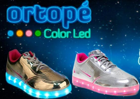 Tenis Color Led Ortopé Original Prata/ Dourado 22110001