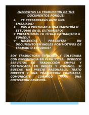 Traducción Simple Y Certificada (español/inglés)