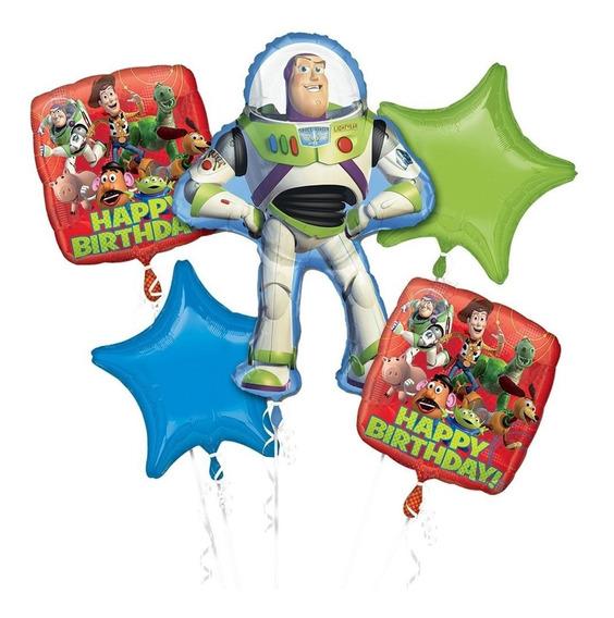 Ramo De 5 Globos Bouquet Toy Story Buzz Gigante Anagram