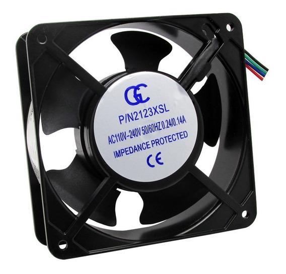 Micro Ventilador Cooler Ventoinha 120x120x38 110/220v 4 Pçs