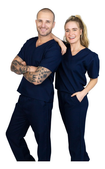 Pijama Cirúrgico Conjunto Hospitalar-unissex-scrub-oxford