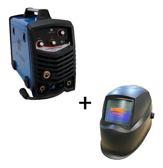 Inversora De Solda Usk 250 Mig E Eletrodo Bivolt + Mascara