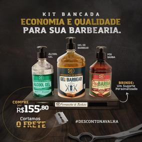 Kit Barbeiro Cosméticos Para Barbearia | Grátis 1 Suporte