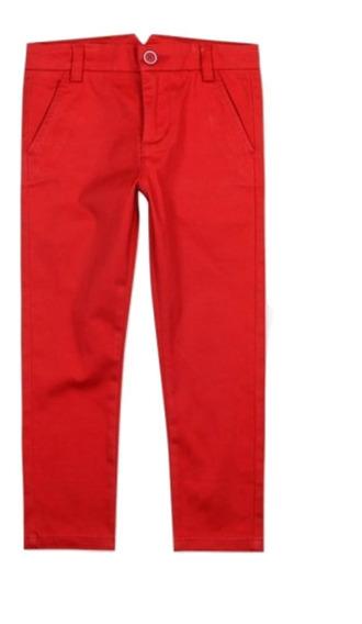 Pantalones Beig, Rojo, Azul Niño Boboli