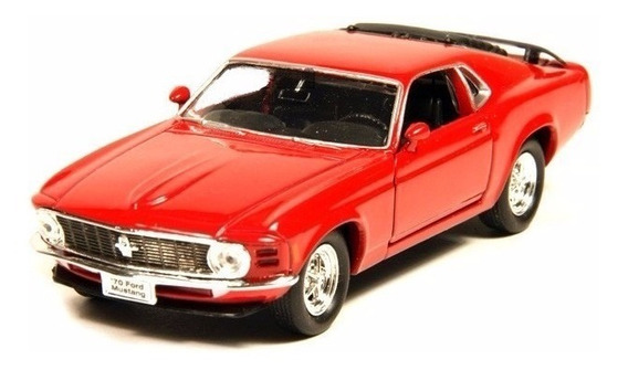 Ford Mustang Boss 302 1970 Escala 1:36 Welly Rojo