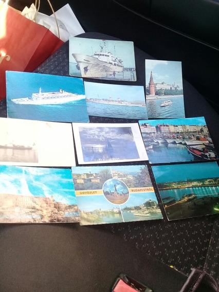 Antiguas Postales Motivo Barcos