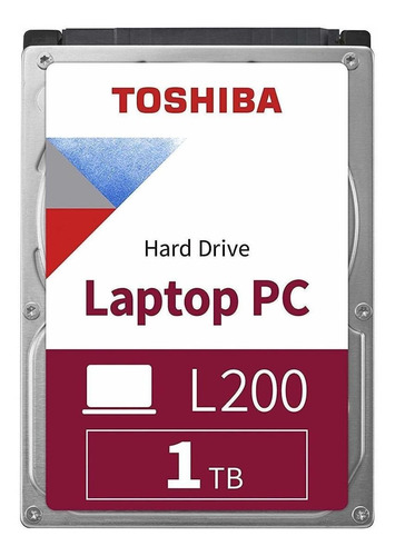 Imagen 1 de 3 de Disco duro interno Toshiba L200 HDWL110UZSVA 1TB plata