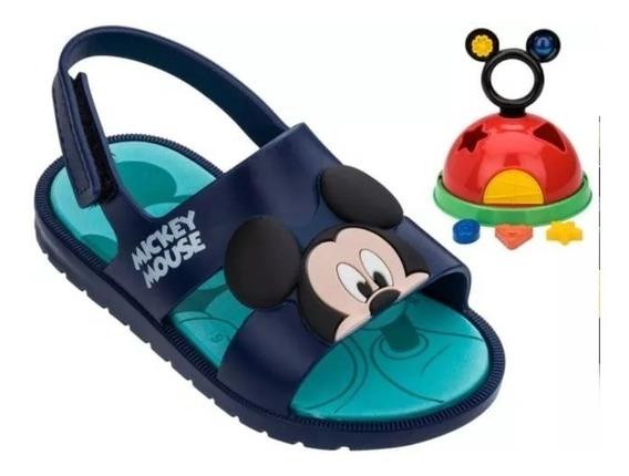 Sandália Mickey E Minnie Diversão 21996 - Azul Azul 24808