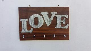Portallaves Decorativo Vintage Love, Sala Comedor, Recibidor