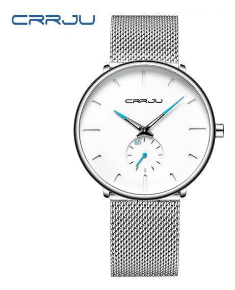 Relógio Crrju Casual Esportivo De Luxo Branco A Prova D
