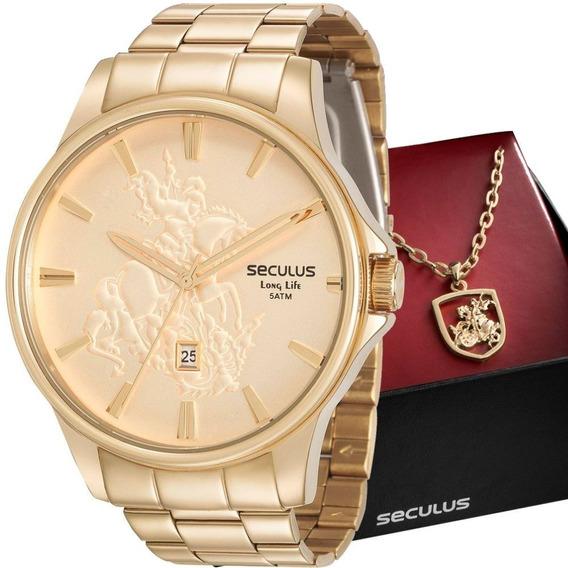 Relógio Seculus Masculino São Jorge 28933gpskda1k1