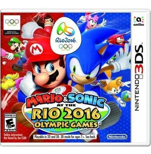 3ds Game Mario & Sonic At The Rio 2016 Olympic Games Novo