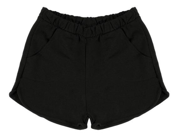 Shorts Feminino Moletom Básico Fashion Rovitex