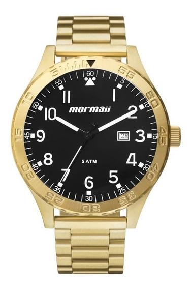Relógio Masculino Dourado Mormaii Mo2115an/4p