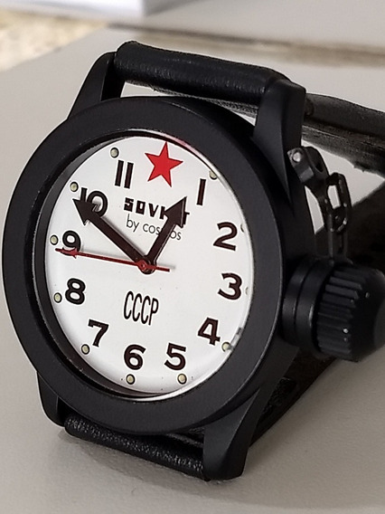 Relógio Soviet By Cosmos Cccp Nunca Usado 100% Original Zero
