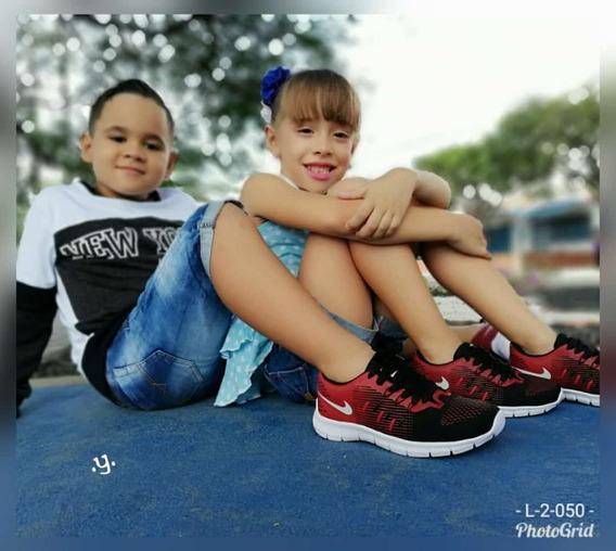 Tenis Para Niño. Calzado Para Niño. Talla 21 Al 31 Yy