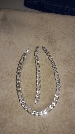 Corrente De Prata Maciça 200 Gramas 3×1