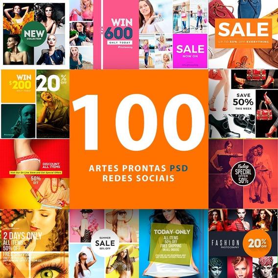 Pacote De Artes Para Redes Sociais Templates 100% Editáveis Photoshop + Fontes