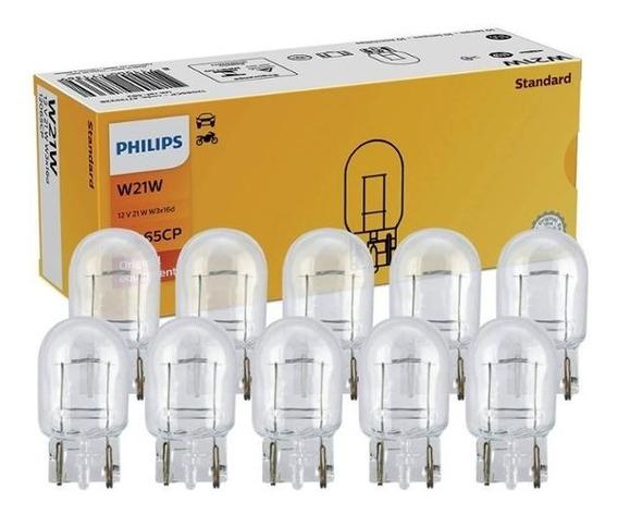 Kit 10 Lâmpada Philips Standart 21w 12v W3x16d Acessório