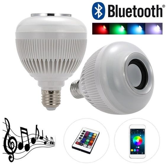 Bulbo Lampada Led Rgb Caixa Som Bluetooth Mp3 Barato Top