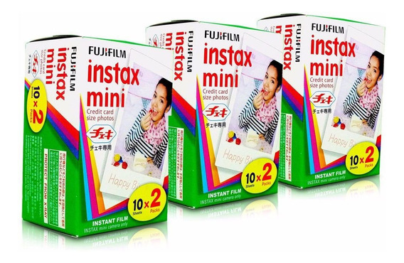 Especial: Filme Instax Mini 8 - 3 Unidades (60 Fotos)