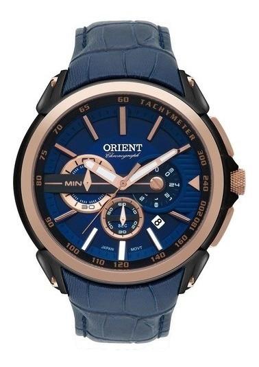Relógio Orient Masculino Ref: Mtscc029 D1dx Cronógrafo Black