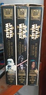 Star Wars Vhs Películas ¡muy Buenas Condiciones!