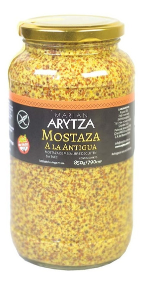 Mostaza Gourmet Arytza A La Antigua 850g. - Sin Tacc