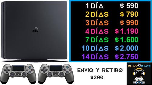 Playspace - Alquiler Ps4 +2 Joysticks +80 Juegos