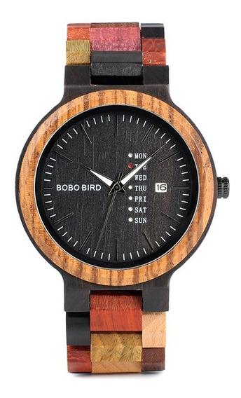 Relógio Madeira Masculino P142 Bobo Bird Analógico