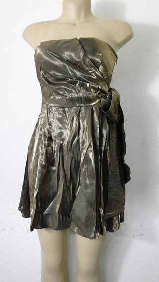 Vestido De Festa Tomara Que Caia C/ Bojo - Ouro Velho (490)