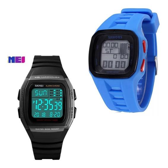 Kit 2 Relógios Silicone Shhors Trestles Pro Ats